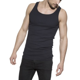 Tank Ribbed Dark Navy