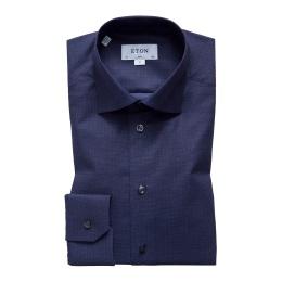 Slim Blåmelerad skjorta