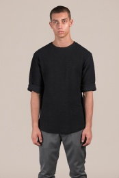 Knitted Tee Black