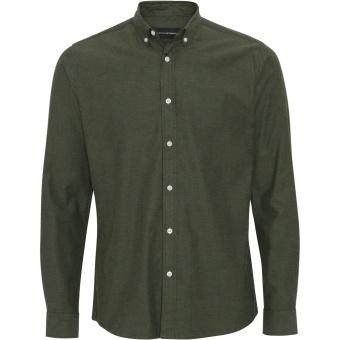 Basic Organic Flannel Shirt Army
