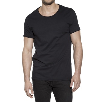 Crew-Neck Relaxed Black