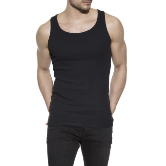 Tank Ribbed Black