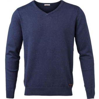 Basic V-Neck Cotton/Cashmere Limoges