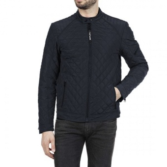 Quilted Recycled Jacket Navy