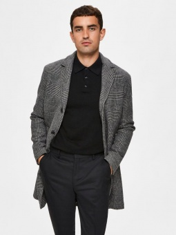 Hagen Wool Coat White/Black