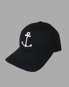 Baseball Cap Big Anchor Black/White