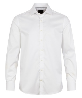 Plain Fine Twill Shirt White