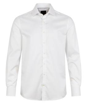 Plain Fine Twill Shirt White