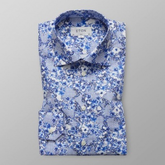 Slim Fit Blå Azulejo