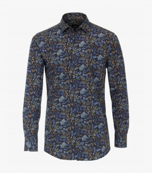 Aop Flower Shirt Blue