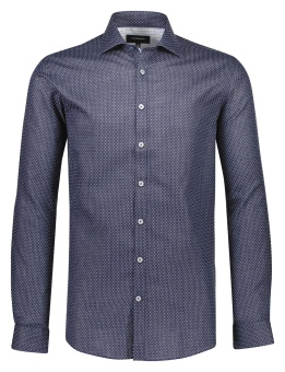 Samll Structure Shirt Dark Blue