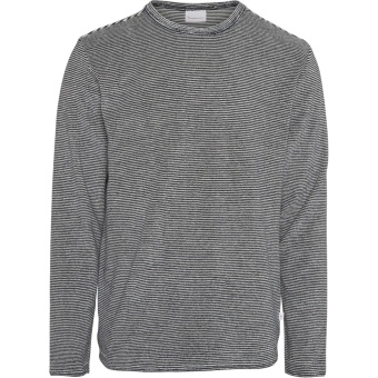 Striped Crew Neck Sweat Total Eclipse