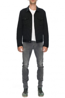 Denim Jacket Steal Black