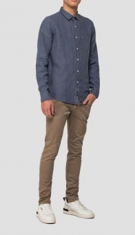 Replay Linen Shirt  Blue