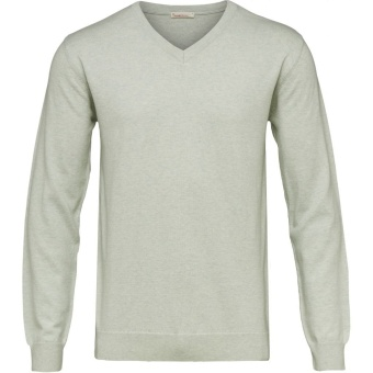 Basic V-Neck Cotton/Cashmere SeaCreast