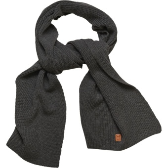Ribbing Scarf Dark Grey Melange
