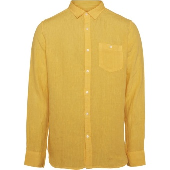 Fabric Dyed Linen Shirt Banana