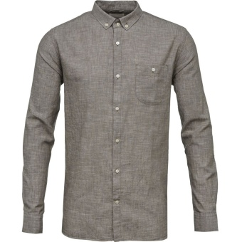 Cotton/Linen Shirt Feather Gray