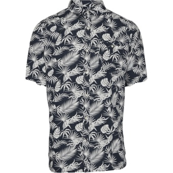 Linen Shirt All Over Print Total Eclipse