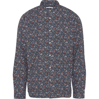 Flower Printed Shirt Total Eclipse