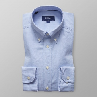 Slim Fit Ljusblå Royal Oxford
