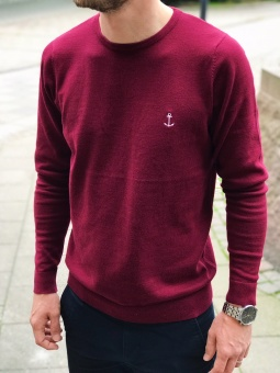 David Thin Knit Bordeaux