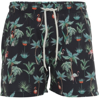 Swim Shorts Hector Black Aop
