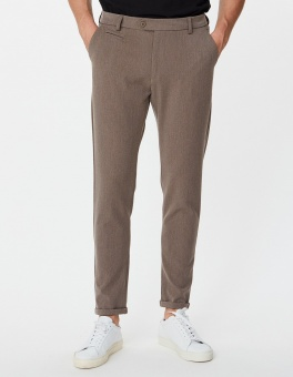 Como Suit Pants Brown Melange