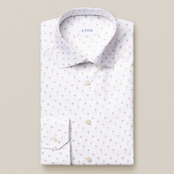 Slim Fit Cocktail Print Shirt