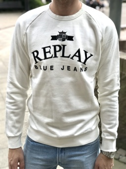 Replay Logo Sweat White