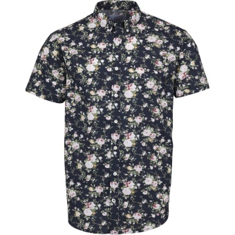 Johan Exotic S/S Rose/Navy
