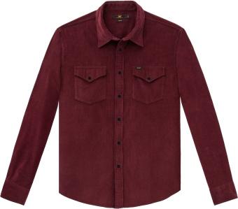 Clean Western Shirt Burgundy