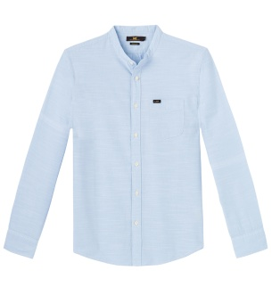 Bandcollar Shirt Light Blue