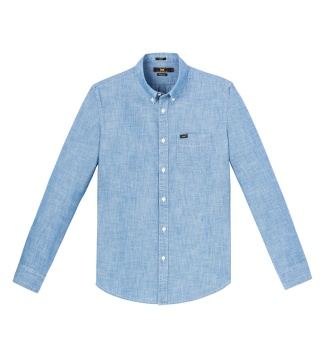 Button Down Sky Blue