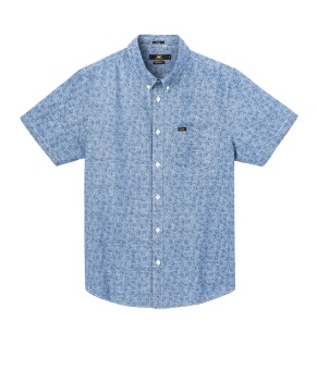 Button Down SS Dipped Blue