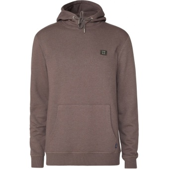 Piece Hoodie Brown Mel/Dark Green