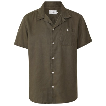 Laurent Tencel SS Shirt Dark Green