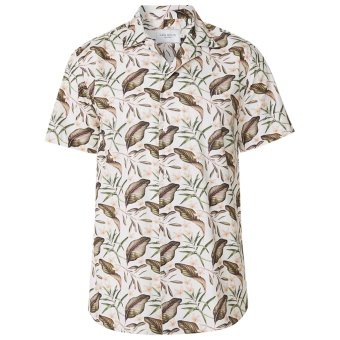 Latif Flower Print SS Shirt Off White