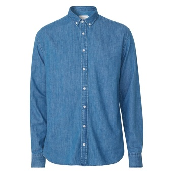 Vagrant Chambray Shirt Dark Blue