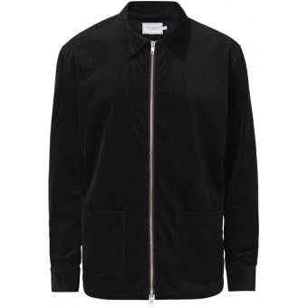 Huelle Corduroy Shirt Jacket Black