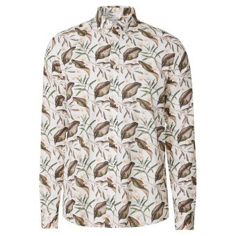 Latif Flower Print Shirt Off White