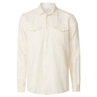Liam Twill Shirt Off White