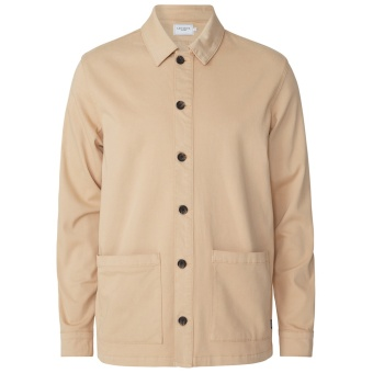 Pascal Shirt Jacket Light Brown Insence