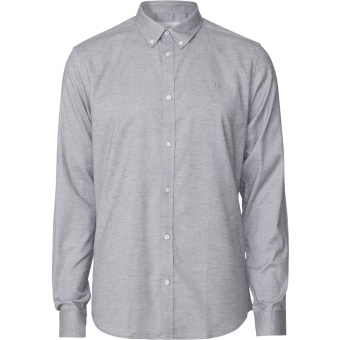 Harrison Brushed Shirt Light Grey
