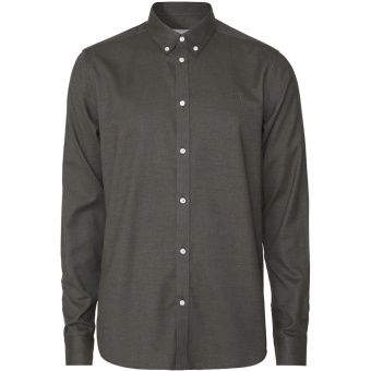 Harrison Brushed Shirt Deep Forest
