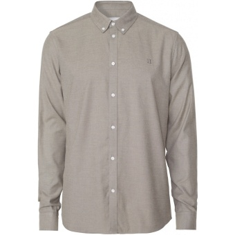 Harrison Brushed Shirt Dark Sand