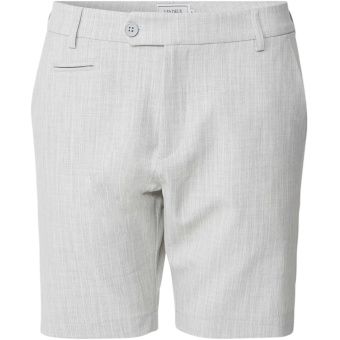 Como Light Pinstripe Shorts Grey Mel/Off White