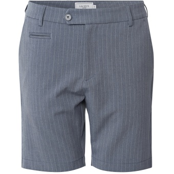 Como Light Pinstripe Shorts Provincial Blue/Grey Mel