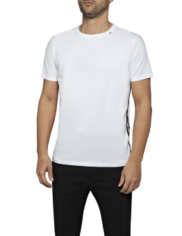 T-shirt With Side Stripe White
