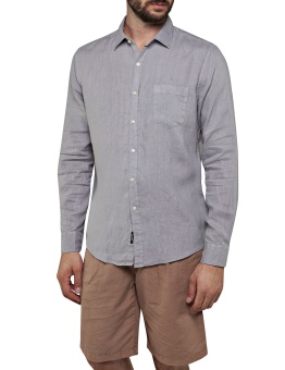 Replay Linen Shirt Grey